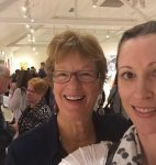Rae and Lisa enjoying the atmosphere of Desert Mob 2015.  This annual event brings all the community art centres to Alice Springs, and is a wonderful experience.