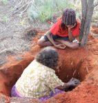 Digging for honey ants with some of the ladies from Watiyawanu Wanu Arts, Mt Liebig.