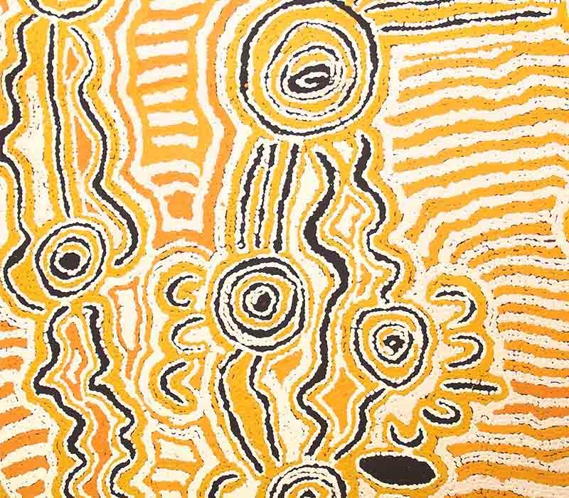 Aboriginal artworks by Mary Anne Nampitjinpa