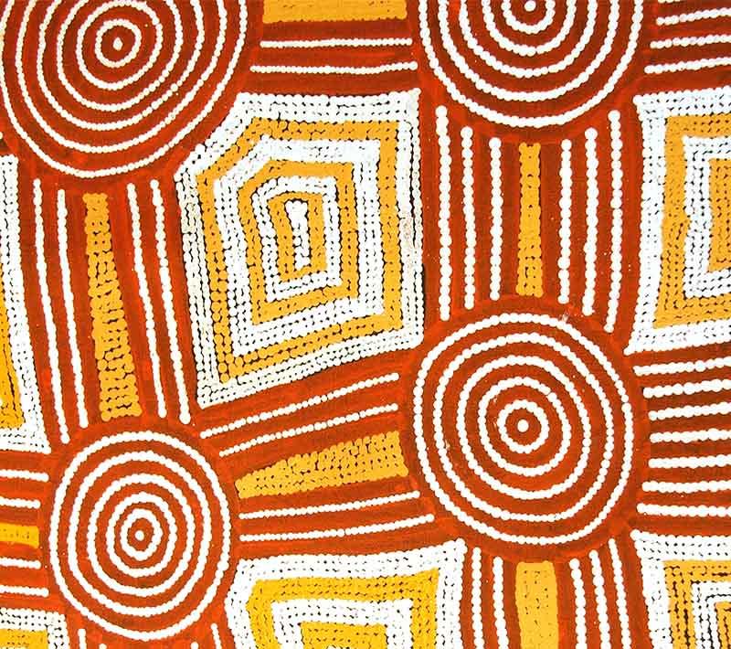 Aboriginal artworks by Kanya Tjapangati