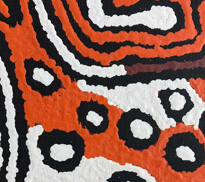 Aboriginal artworks by Pirrmangka Reid Napanangka