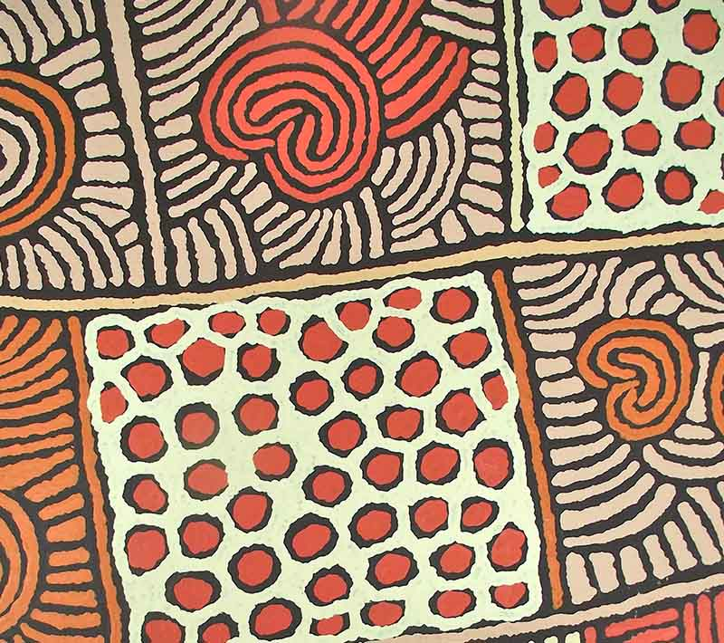 Aboriginal artworks by Tjawina Porter Nampitjinpa