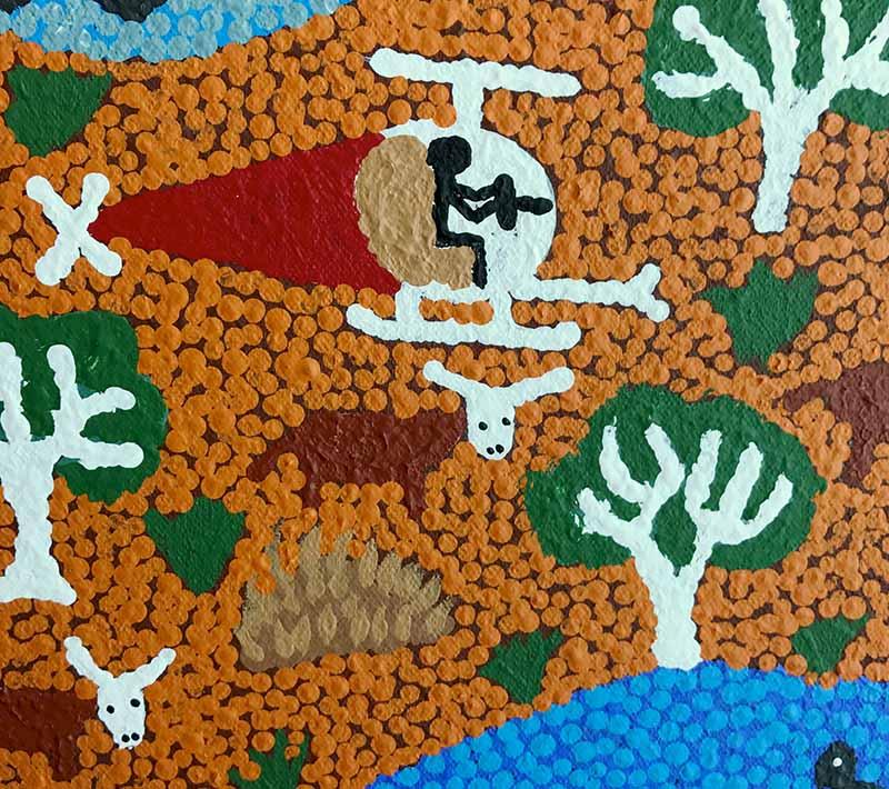 Aboriginal artworks by Annette Nungala