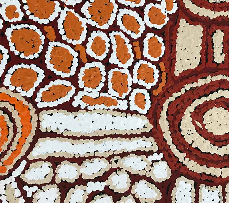 Aboriginal artworks by Debra Young Nakamarra
