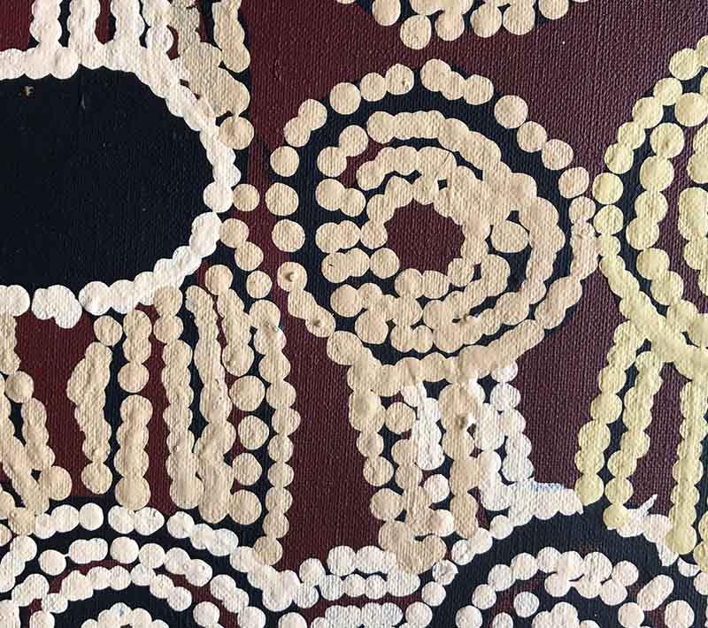 Aboriginal artworks by Wentja Morgan Napaltjarri