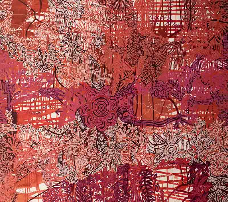 Aboriginal artworks by Candy Nelson Nakamarra