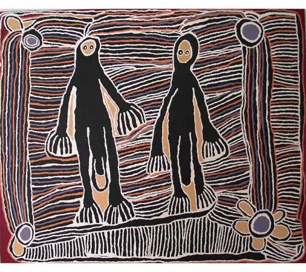 Aboriginal artworks by Linda Syddick Napaltjarri