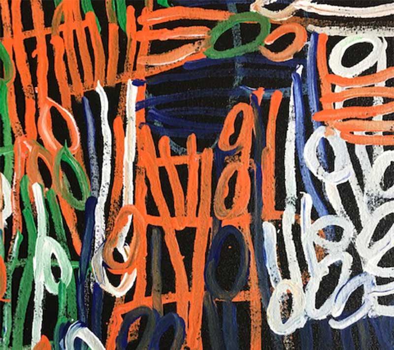 Aboriginal artwork by Charmaine Pwerle
