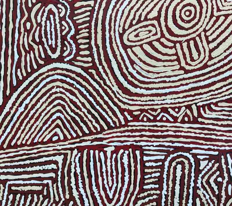 Aboriginal artwork by Lorna Brown Napanangka