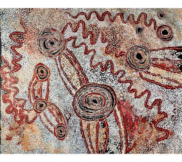 Aboriginal artwork by Julie Yatjitja