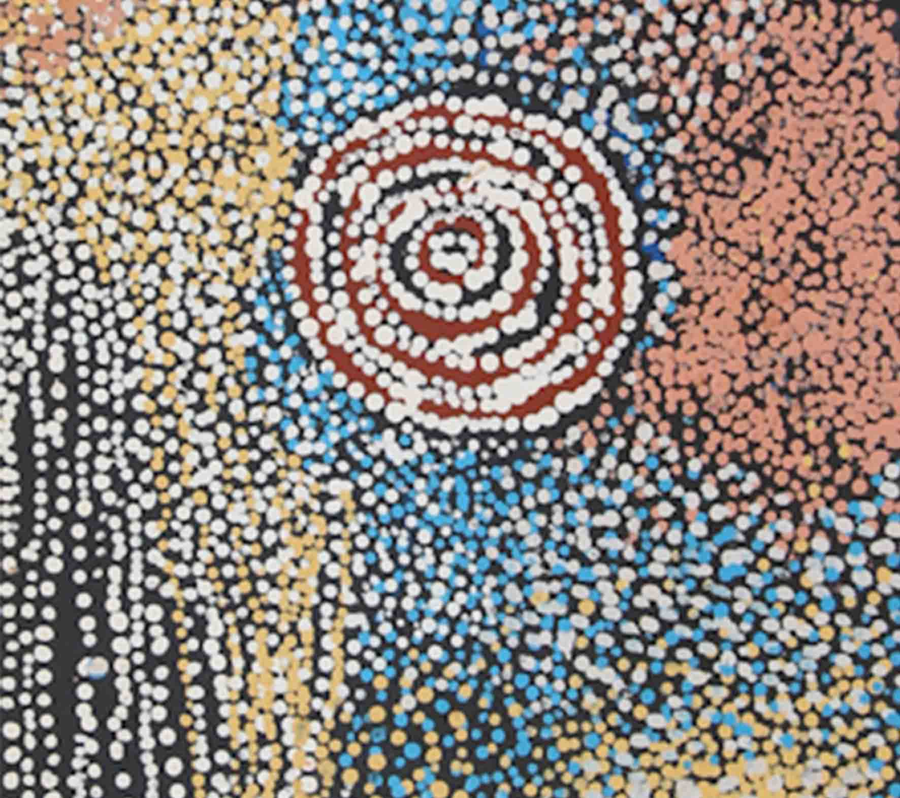 Aboriginal artwork by Bill Whiskey Tjapaltjarri