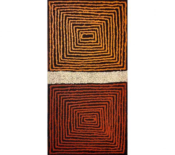 Aboriginal artwork by Morris Gibson Tjapaltjarri