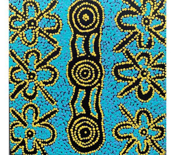 Aboriginal artwork by Gregory Japanangka Marshall