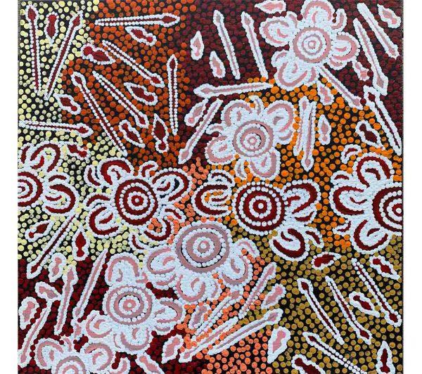 Aboriginal artwork by Ritasha Nampijinpa Watson